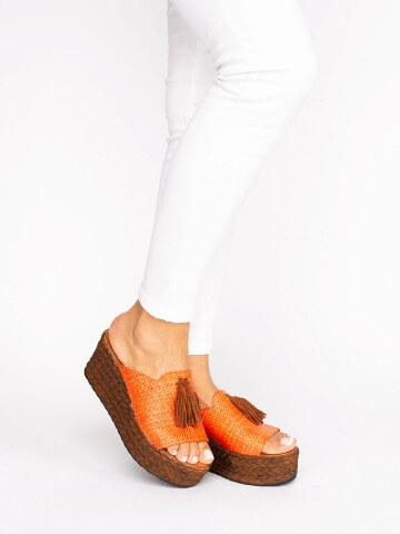 Taped Wedge Sandals