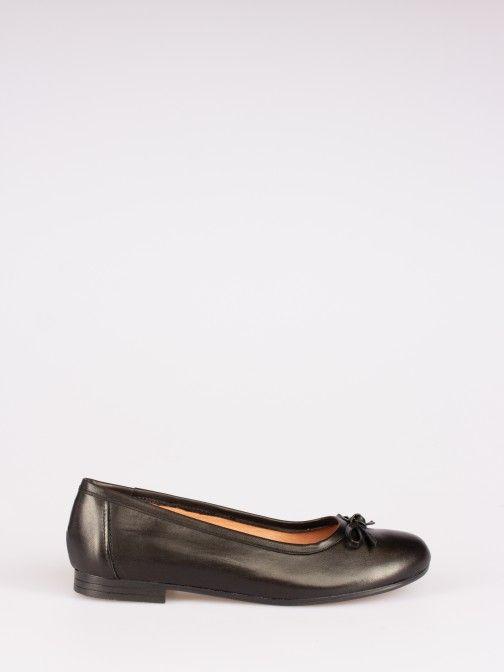 Flat Leather Ballerinas