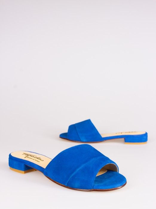 Double Suede Mules