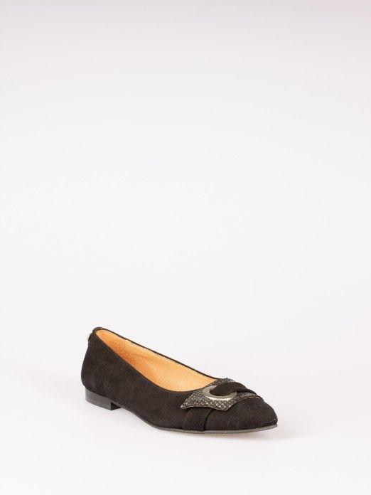 Animal-print Buckle Shoes