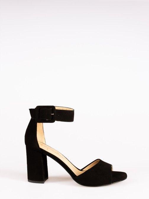 Suede Buckle Sandals