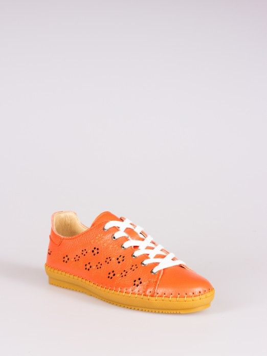 Perforated Floral-print Sneakers