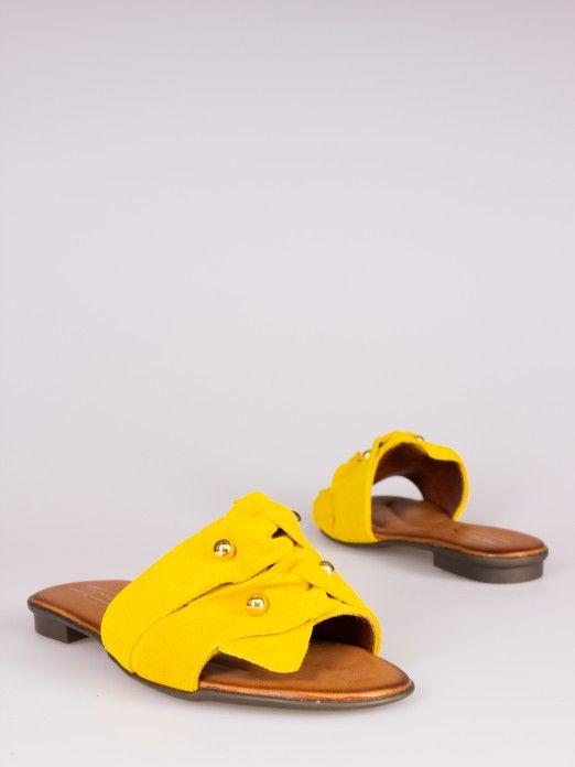 Knot Detail Flat Sandals
