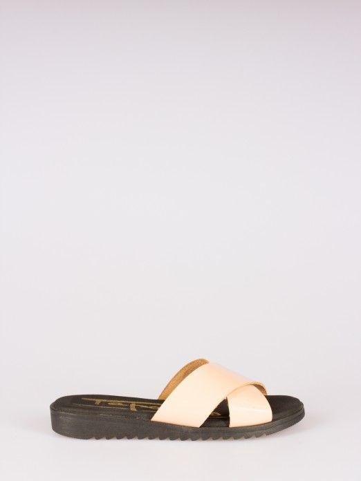 Cross Strappy Slipper