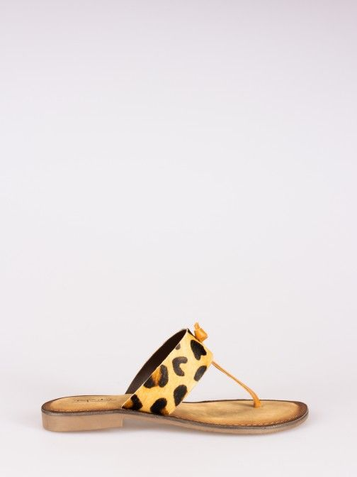 Animal-print Slippers