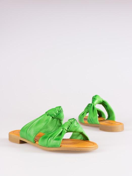 Double Knot Detail Flat Sandals