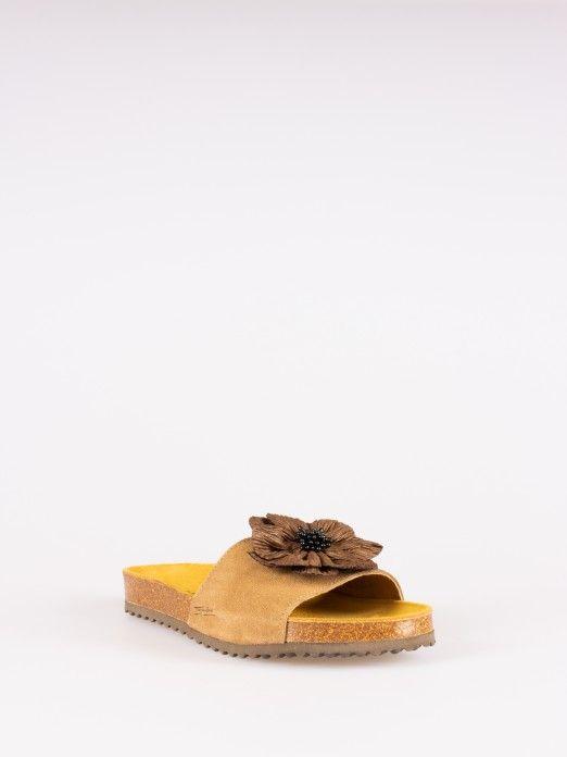Flower Detail Slippers
