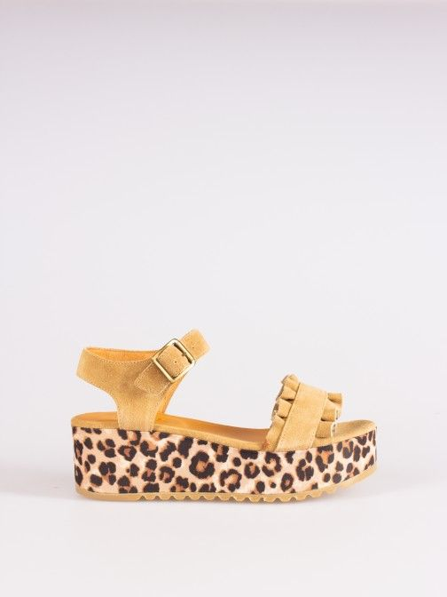 Animal-print Sandals