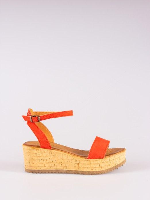 Suede Wedges Sandals
