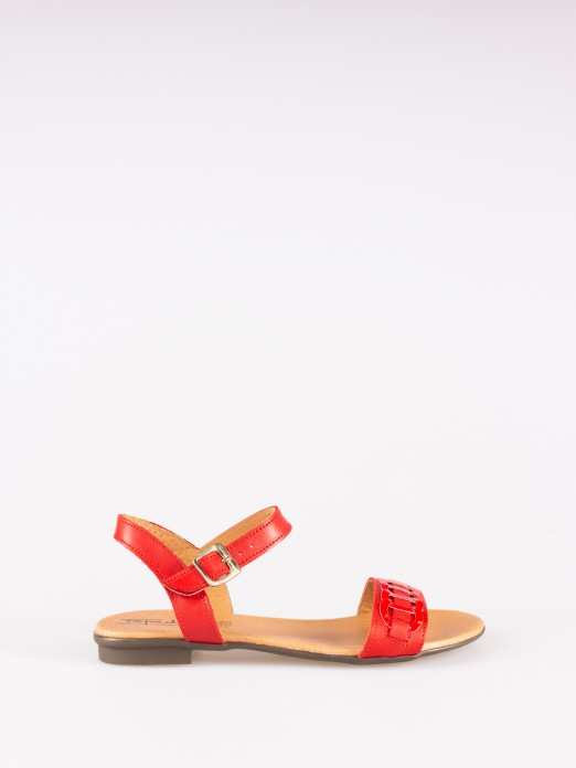 Flat Sandals with Hoops