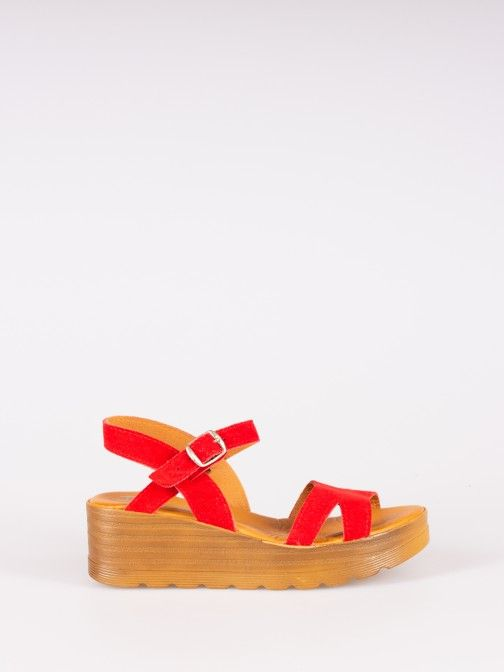 Wood Style Wedge Sandals