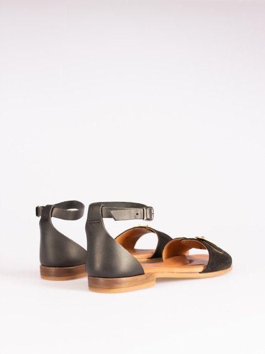 Buckle-detail Flat Sandals