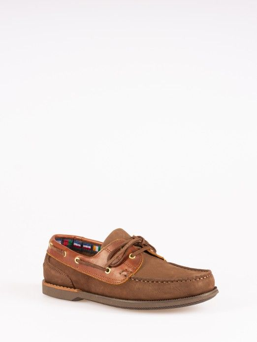 NUBUCK AND SMOOTH LEATHER SAILING SHOES