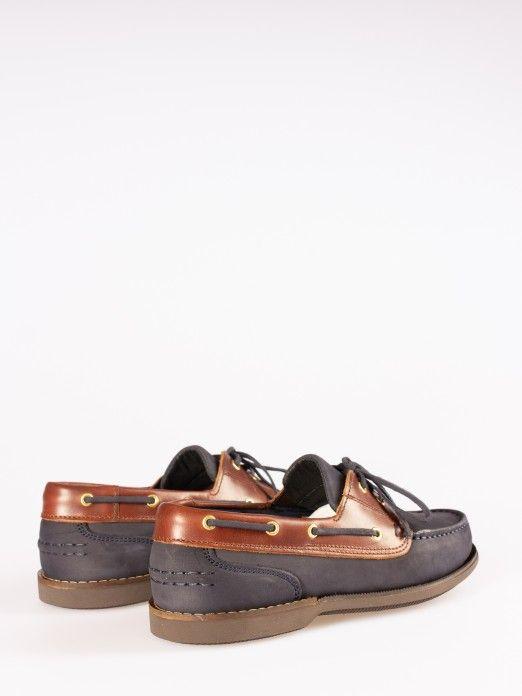 Sapato de Vela Nobuck e Pele Lisa