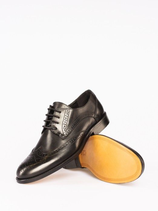 Punch-hole Details Oxford Shoes