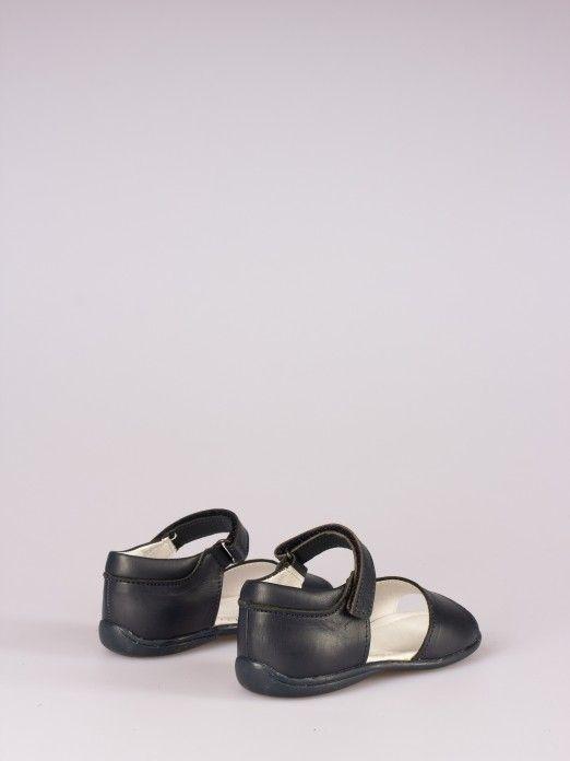 Sandália de Pele Azul