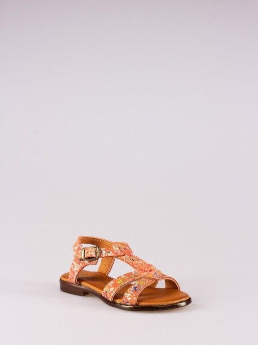 Multicolored Printed Sandals