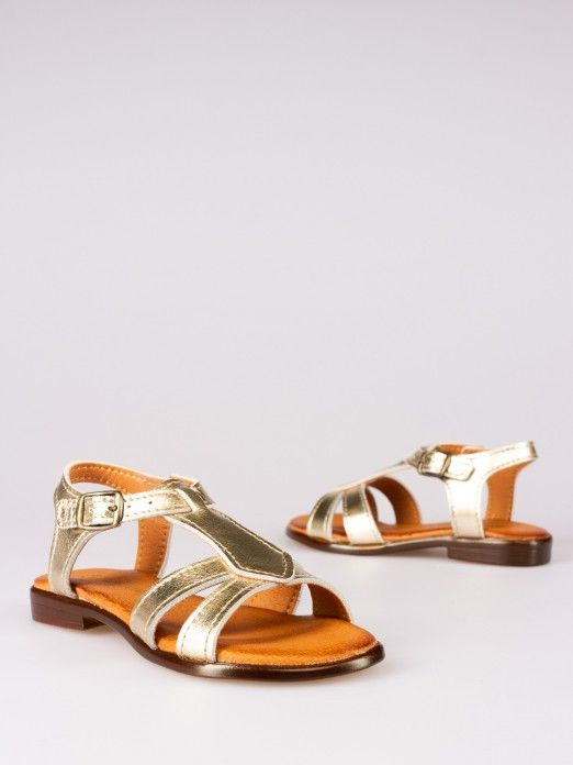 Laminated Leather Sandals