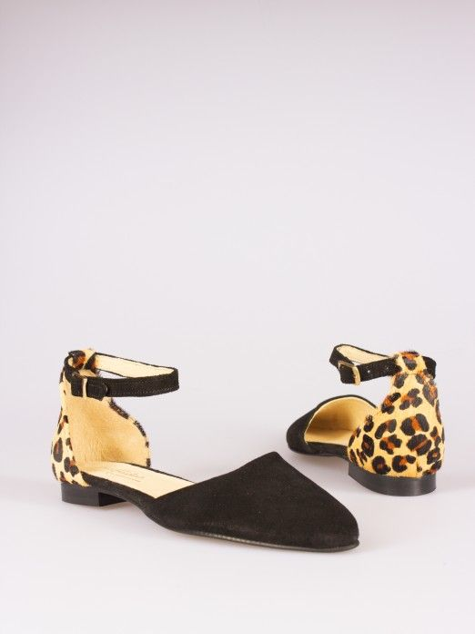 Mule Camurça Animal Print