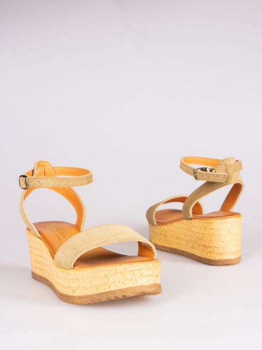 Suede Wedges Sandals