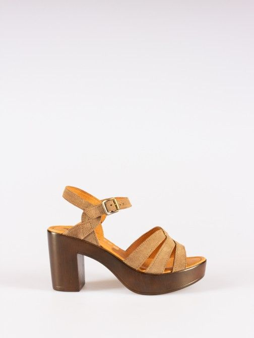 Suede Compensated Sandals
