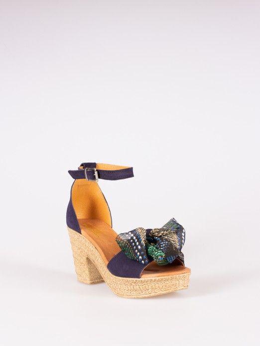 Sandália Laço Têxtil