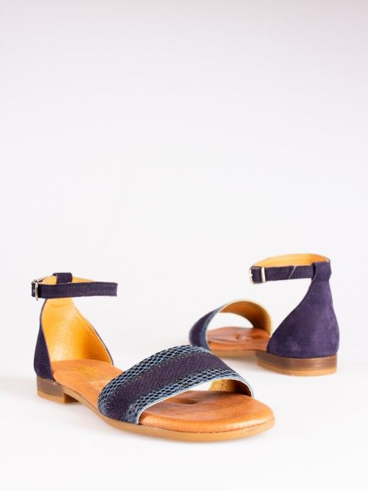 Animal-Print Flat Sandals