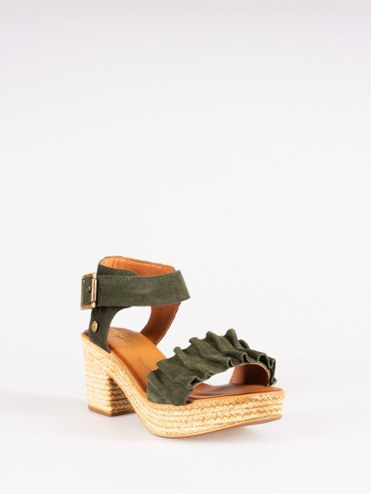 Pleated Sandals