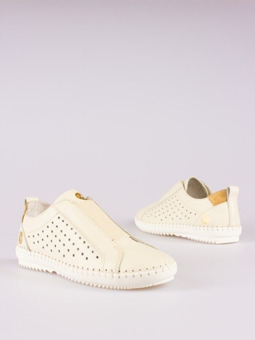Front Elastic Leather Sneakers