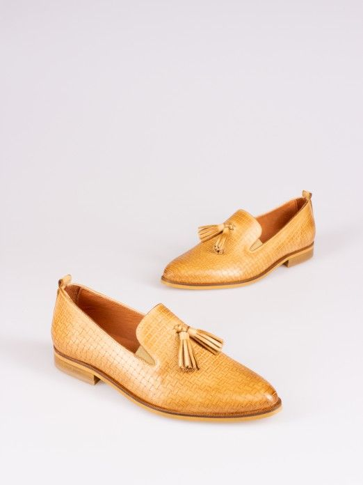 Engraved Leather Loafers