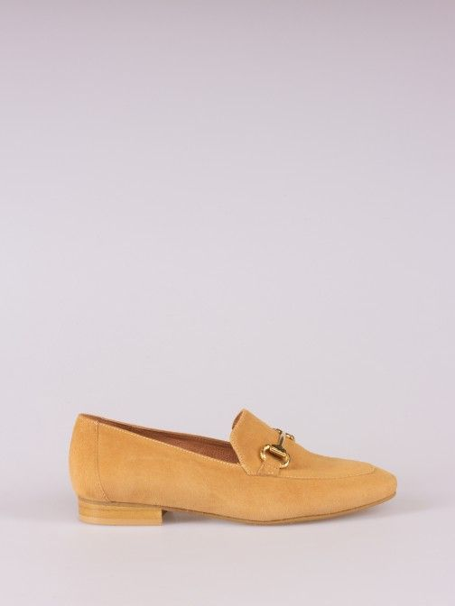 Suede Loafers with Horsebit Detail