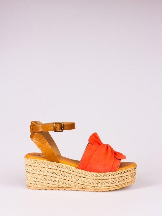 Sandália de Cunha com Laço