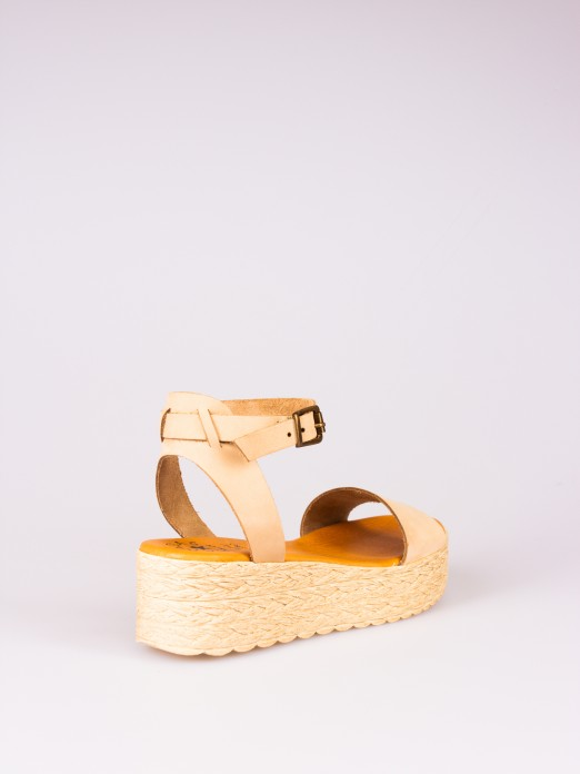Nubuck Wedge Sandal