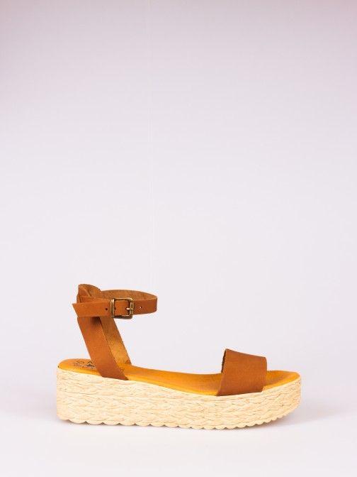 Nubuck Wedge Sandal