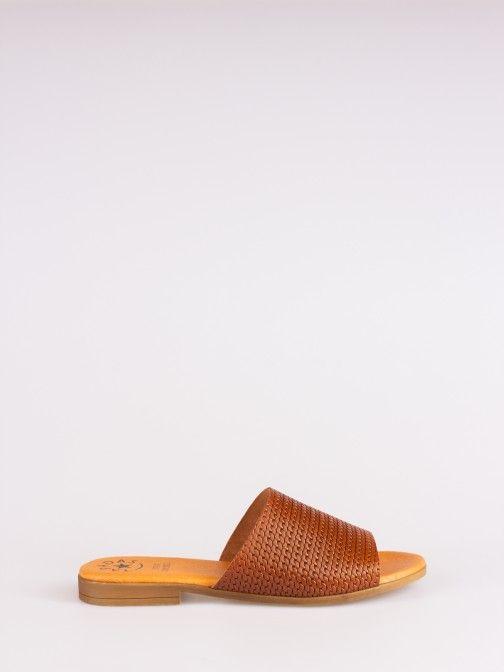 Braided Effect Leather Slipper