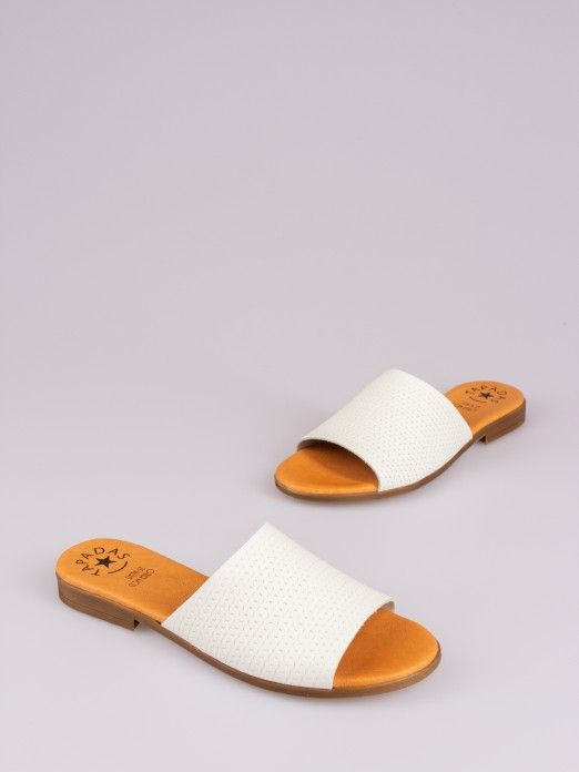 Braided Effect Leather Slipper