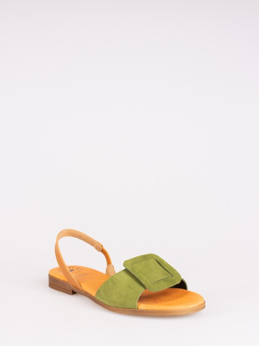 Suede Flat Sandal