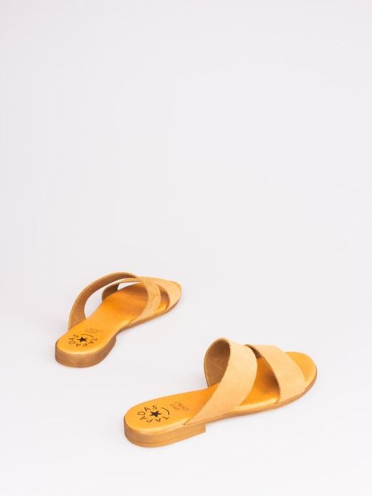 Double Strap Suede Slipper