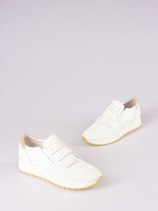 Leather Sneakers with Fringes