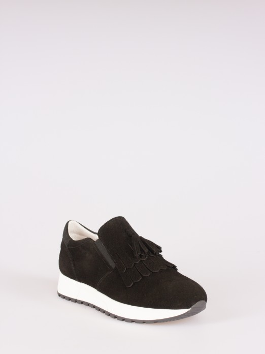 Suede Sneakers with Fringes