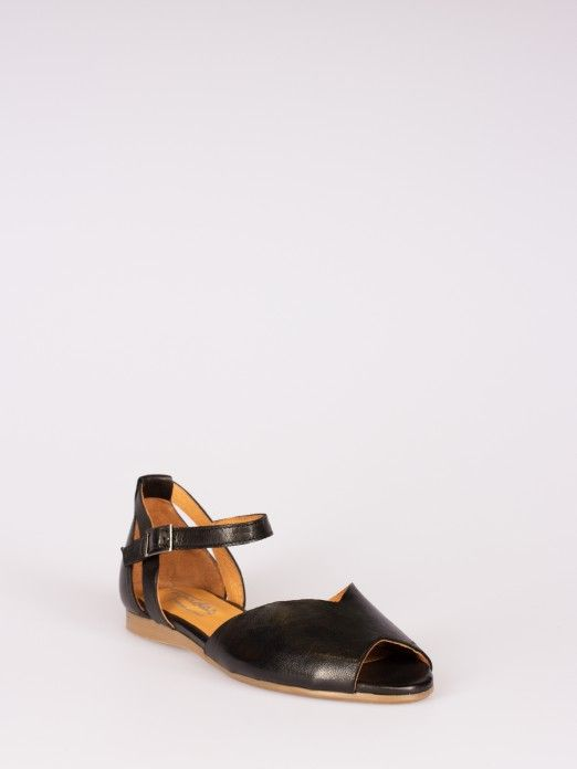 Leather Sandal Triangle Cut