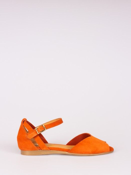 Suede Sandal Triangle Cut