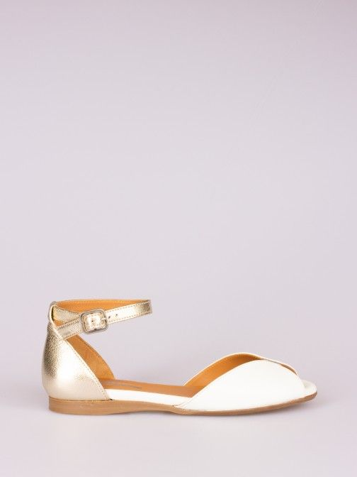Bicolor Leather Sandal