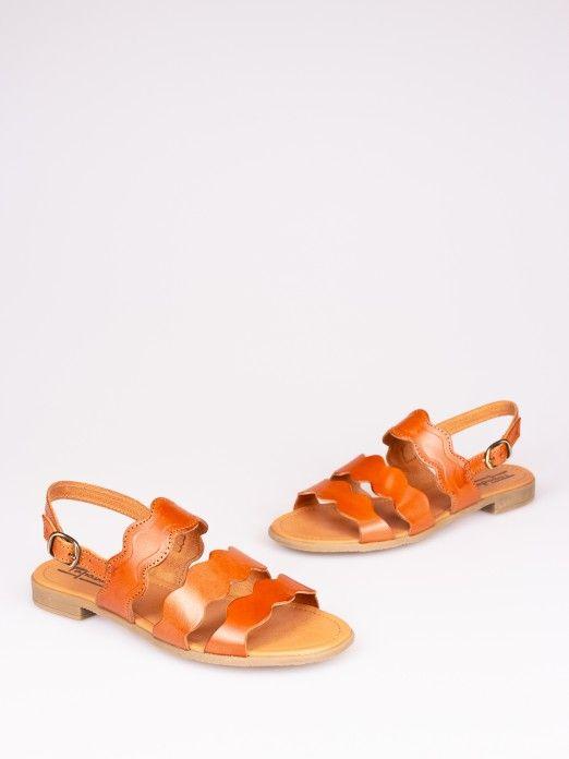 Wave Straps Leather Sandal