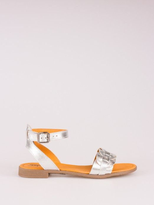 Braided Strap Leather Sandal