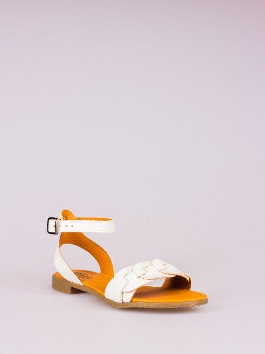 Braided Strap Leather Sandal
