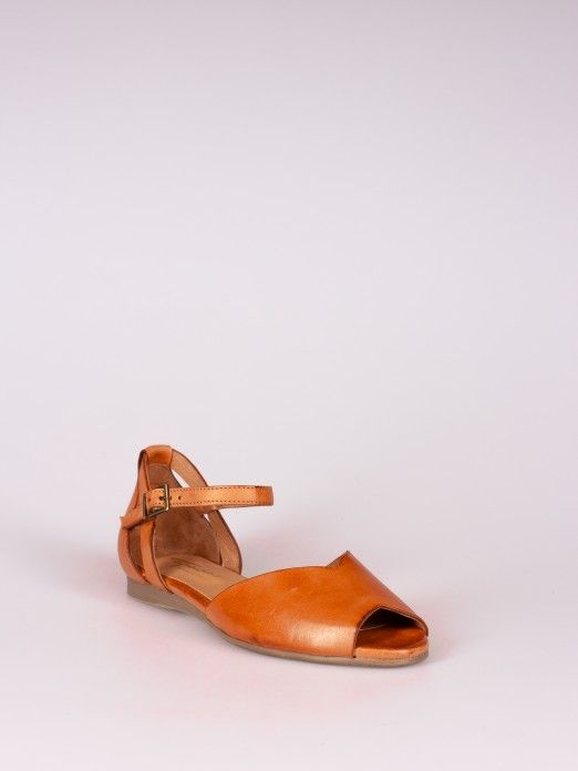 Leather Sandal Triangle Cut