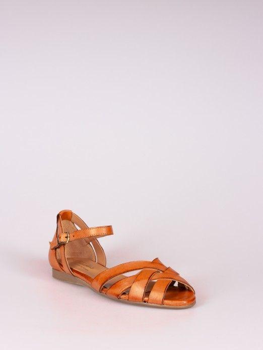 Sandália em Pele
