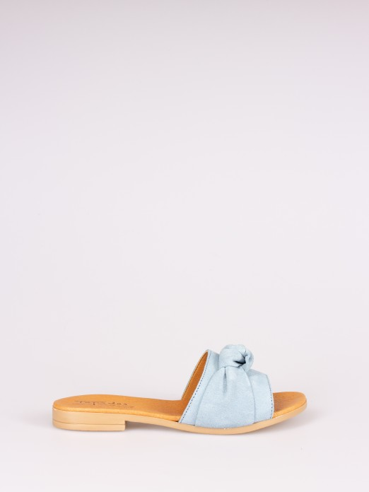 Knot Suede Slipper