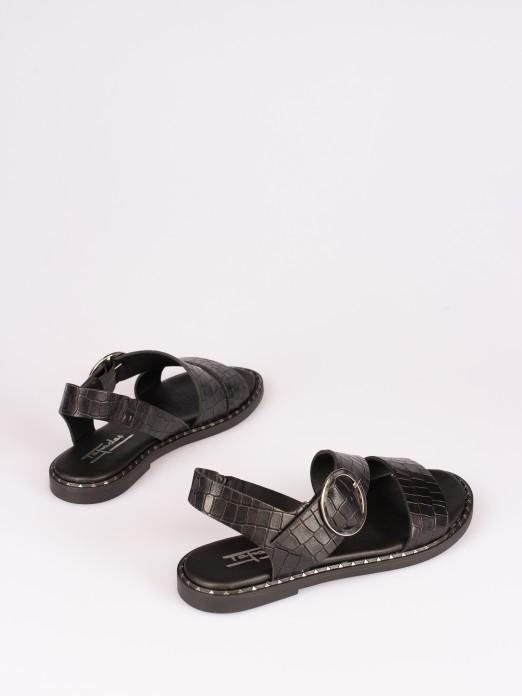 Chunky Style Croco Sandal